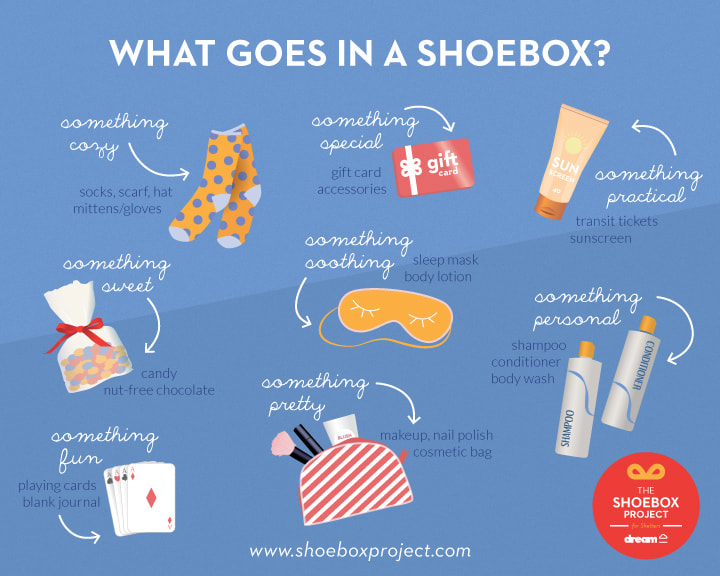 The Shoebox Project for Women - What goes in the box?