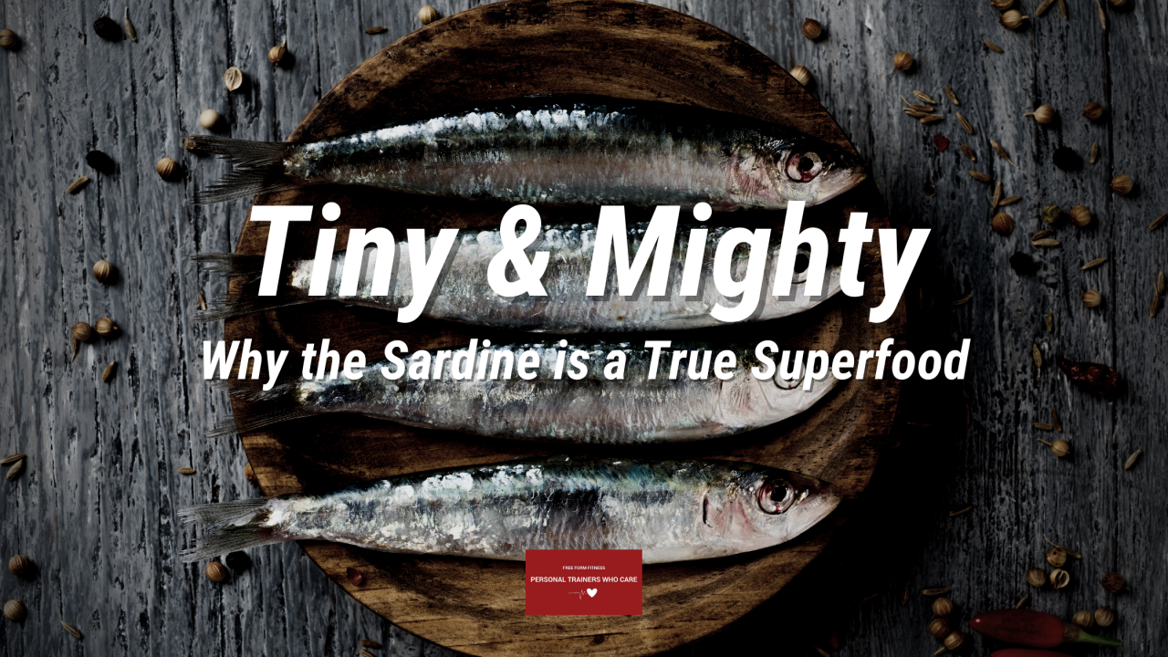 Blog Banner - Tiny and mighty Sardines as a Superfood